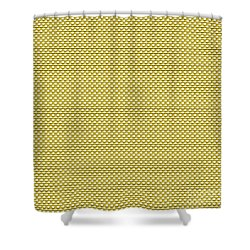 Yellow Weave Shower Curtain