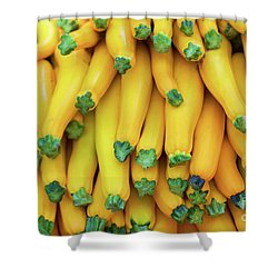 Yellow Zucchini Shower Curtain