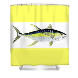 Yellowfin Tuna Shower Curtain
