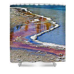 Yellowstone Abstract I Shower Curtain by Teresa Zieba