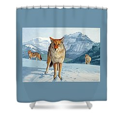 Yellowstone Coyotes Shower Curtain