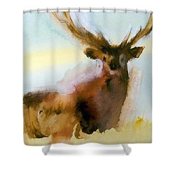 Yellowstone  Elk Shower Curtain by Ed Heaton