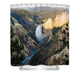 Yellowstone Falls Shower Curtain