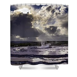Yellowstone Geysers And Hot Springs Shower Curtain