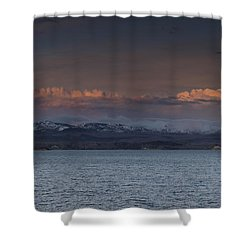 Yellowstone Lake At Sunset Shower Curtain