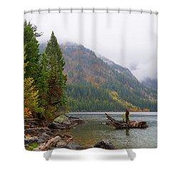 Yellowstone Lake Fall Shower Curtain