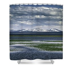 Yellowstone Mountain Scape Shower Curtain