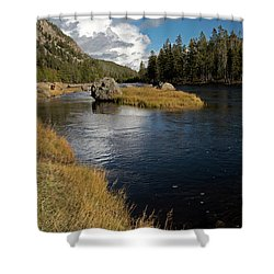 Yellowstone Nat'l Park Madison River Shower Curtain