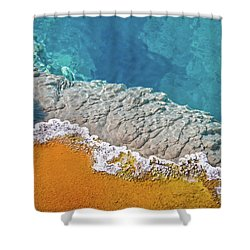 Yellowstone Pool Shower Curtain