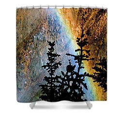 Shower Curtain featuring the photograph Yellowstone Rainbow by Norman Hall