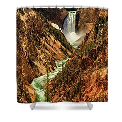 Yellowstone Shower Curtain by Rick Furmanek