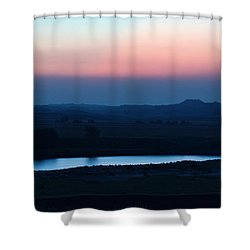Yellowstone River Evening Shower Curtain