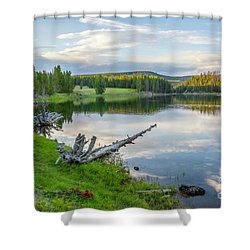 Yellowstone River Off Grand Loop Shower Curtain