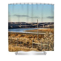 Yellowstone River View Shower Curtain by Aliceann Carlton