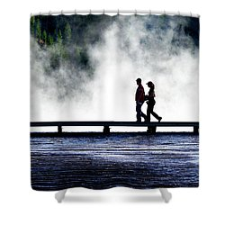 Yellowstone Walkers Shower Curtain