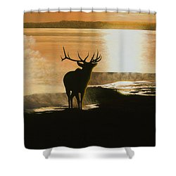 Yellowstone's Monarch Shower Curtain