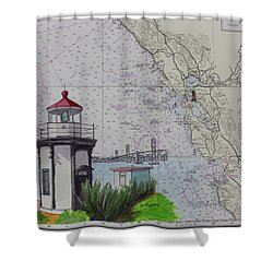 Yerba Buena Island Lighthouse Shower Curtain