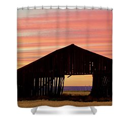 Yesterday And Today At Sunset Shower Curtain