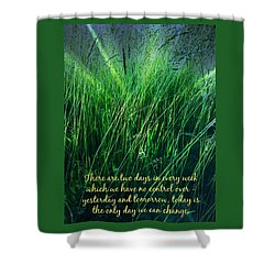 Yesterday And Tomorrow Shower Curtain