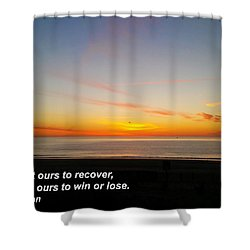 Shower Curtain featuring the photograph Yesterday Is Not Ours... by Robert Banach