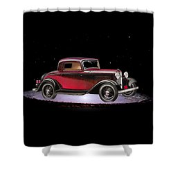 Yesterdays Car Of Tomorrow Shower Curtain