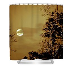 Yesteryears Moon Shower Curtain