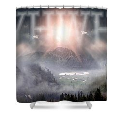 Yhwh Shower Curtain by Bill Stephens