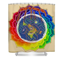 Shower Curtain featuring the painting Yhwh Covers Earth by Hidden Mountain