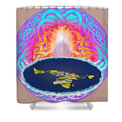 Yhwh Creation Shower Curtain by Hidden Mountain