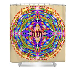 Yhwh Mandala 3 18 17 Shower Curtain