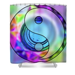Yin And Tang In Purple  Shower Curtain