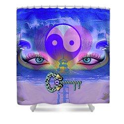 Yin Yang Key To Peace #190 Shower Curtain