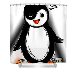 Yin Yang Penguin  Shower Curtain by Sladjana Lazarevic
