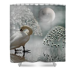 Yinyang - Moon Shower Curtain