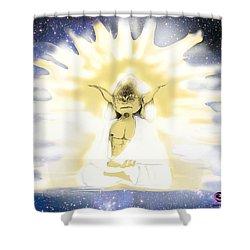 Yoda Budda Shower Curtain