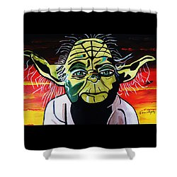 Yoda  Come Home Shower Curtain by Nora Shepley