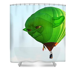 Shower Curtain featuring the photograph Yoda In The Sky by AJ Schibig
