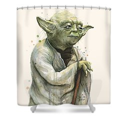 Yoda Portrait Shower Curtain