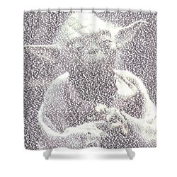 Yoda Quotes Mosaic Shower Curtain