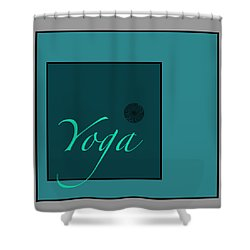 Yoga In Blue Shower Curtain by Kandy Hurley