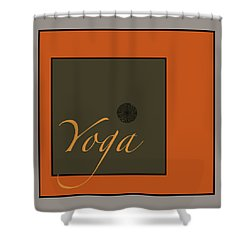 Yoga Shower Curtain by Kandy Hurley