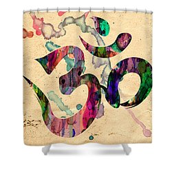 Yoga Ohm Symbol Shower Curtain