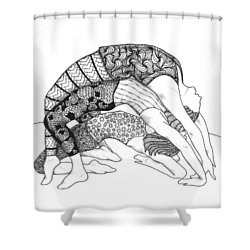 Yoga Sandwich Shower Curtain