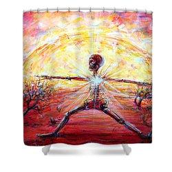 Yoga Warrior Shower Curtain