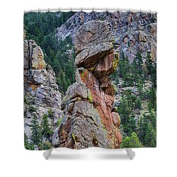 Shower Curtain featuring the photograph Yogi Bear Rock Formation by James BO Insogna