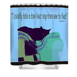 Yogi Cat Nap Shower Curtain