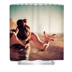 Shower Curtain featuring the photograph Yogic Gift by T Brian Jones