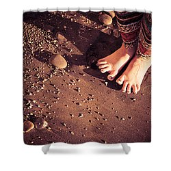 Shower Curtain featuring the photograph Yogis Toesies by T Brian Jones