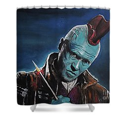Yondu Shower Curtain by Tom Carlton