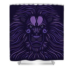 Yoni The Lion - Dark Shower Curtain